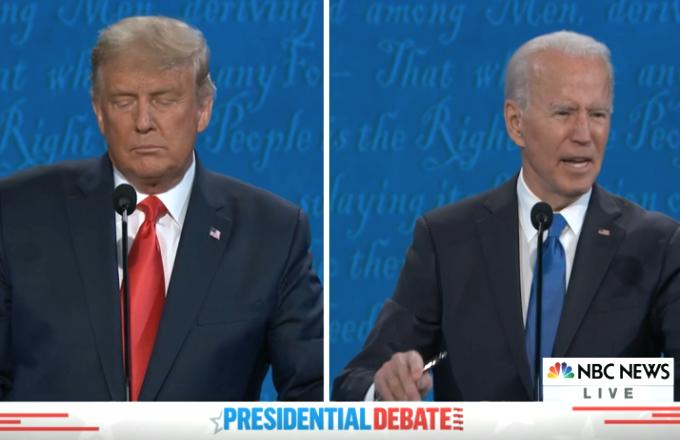 Trump-Biden, i momenti top dell'ultimo duello tv