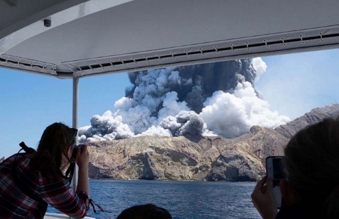 Nuova Zelanda: l'eruzione del vulcano Waakari