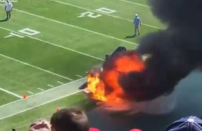 NFL: lo spettacolo del fuoco