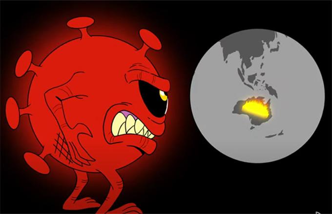 Il 2020 della pandemia raccontato in un cartoon